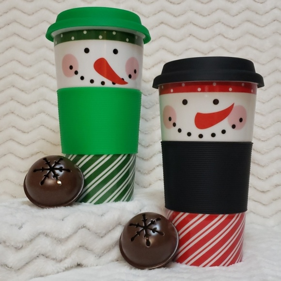 Century Other - Snowman Double Insulated Travel Mug - Set of 2
